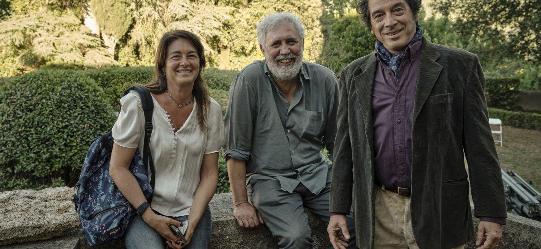 VERONESI TRUCCATO DA GIOVANE! ! !L.Paolucci, F.Piccolo, S.Veronesi - Backstage @Enrico De Luigi DSCF3641